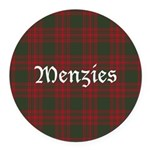 Tartan-Menzies hunting Round Car Magnet