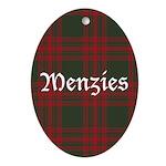 Tartan-Menzies hunting Ornament (Oval)