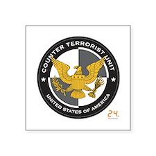 """24 CTU Logo Square Sticker 3"""" x 3"""""""