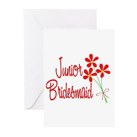 Bouquet Junior Bridesmaid Greeting Cards (Pk of 20