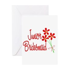 Bouquet Junior Bridesmaid Greeting Card