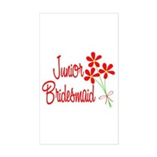 Bouquet Junior Bridesmaid Rectangle Decal