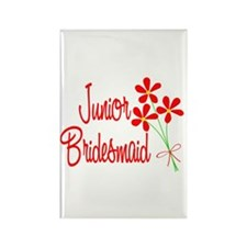 Bouquet Junior Bridesmaid Rectangle Magnet