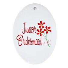 Bouquet Junior Bridesmaid Oval Ornament