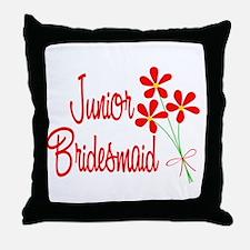 Bouquet Junior Bridesmaid Throw Pillow