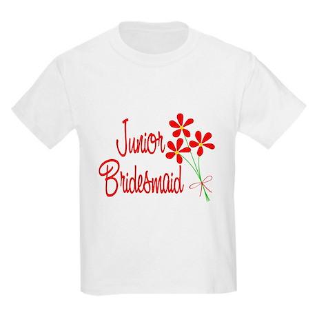 Bouquet Junior Bridesmaid Kids Light T-Shirt