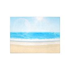 Sunny Tropical Ocean Beach 5'x7'Area Rug