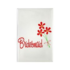 Bouquet Bridesmaid Rectangle Magnet