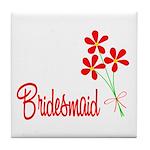 Bouquet Bridesmaid Tile Coaster