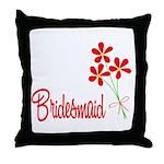 Bouquet Bridesmaid Throw Pillow