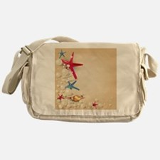 Decorative Summer Beach Sand Shells Messenger Bag