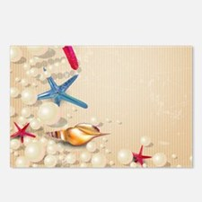 Decorative Summer Beach S Postcards (Package of 8)