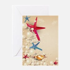 Decorative Summer Beach Sand Shells Greeting Cards