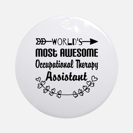 Occupational Therapy Assistant Ornament (Round)