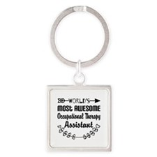 Occupational Therapy Assistant Square Keychain