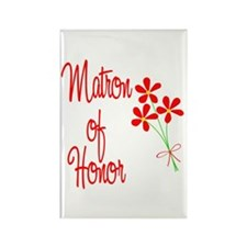 Bouquet Matron of Honor Rectangle Magnet