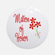 Bouquet Matron of Honor Ornament (Round)