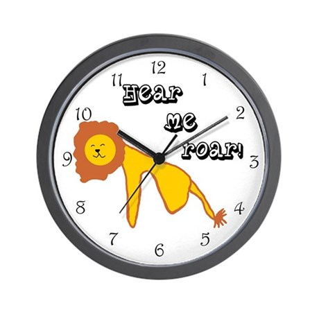 Lion Roar Wall Clock