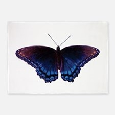 Purple and Blue Butterfly 5'x7'Area Rug