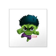 """Hulk Stylized Square Sticker 3"""" x 3"""""""