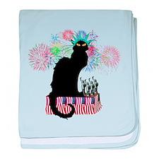 Lady Liberty - Patriotic Le Chat Noir baby blanket