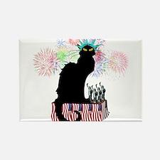 Lady Liberty - Patriotic Le Chat Noir Magnets