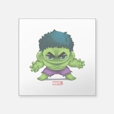 "Hulk Stylized Square Sticker 3"" x 3"""