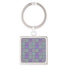 Plaid Patches purple Keychains