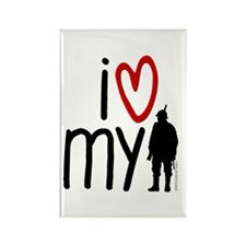 I Heart My Soldier Rectangle Magnet (100 pack)
