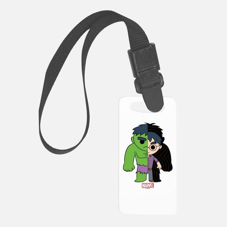 Chibi Hulk Half-and-Half Luggage Tag