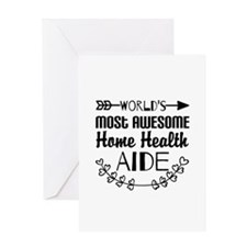 World's Most Awesome Home Health Aid Greeting Card