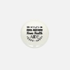 World's Most Awesome Home H Mini Button (100 pack)