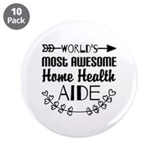 """World's Most Awesome Home He 3.5"""" Button (10 pack)"""