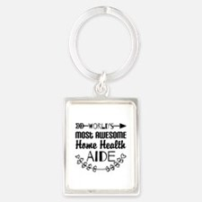 World's Most Awesome Home Health Portrait Keychain