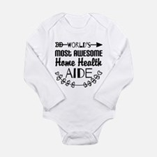 World's Most Awesome H Long Sleeve Infant Bodysuit