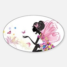 Whimsical Pink Flower Fairy Decal