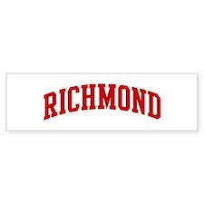 RICHMOND (red) Bumper Bumper Sticker