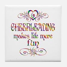 Cheerleading More Fun Tile Coaster