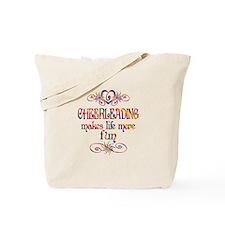 Cheerleading More Fun Tote Bag