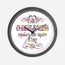 Cheerleading More Fun Wall Clock