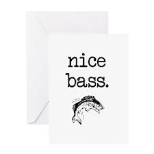 Nice Bass Greeting Cards