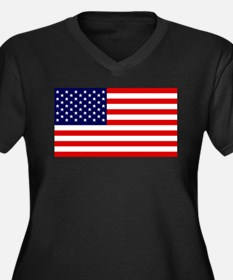 American Flag HQ Plus Size T-Shirt