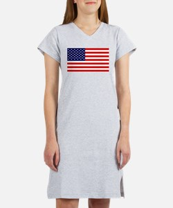 American Flag HQ Women's Nightshirt