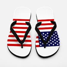 American Flag HQ Flip Flops