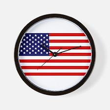 American Flag HQ Wall Clock