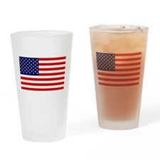 American Flag HQ Drinking Glass