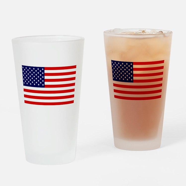 American Flag HQ Drinking Glass