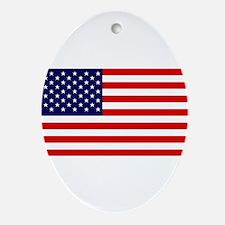 American Flag HQ Ornament (Oval)