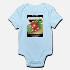 Vintage Radish Seed Packet Body Suit