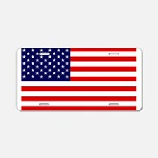 American Flag HQ Aluminum License Plate